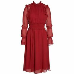 CHELSEA28 Ruffle Midi Red Jester Dress Red XL NEW NWT Super Cute