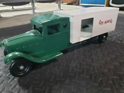 Vintage Large Steelcraft Toys Pressed Steel City Milk Company Delivery Truck
