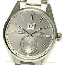 Tag Heuer Carrera Gmt Calibre 8 War5011 Silver Dial Automatic Menand039s Watch_500046