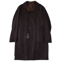 NWT $18400 KITON Reversible Vicuna-Cashmere Overcoat 42 R (Eu 52) Outer Coat
