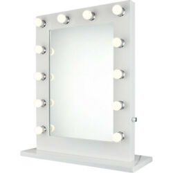 Table Top Or Wall Led Makeup Lighted Vanity Hollywood Mirror Dimmable Lights 32