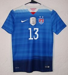 Usa Nike Womens 2015 Alex Morgan Independence Day Edition Soccer Jersey Rare