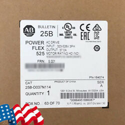 Portable Allen-Bradley PowerFlex 525 18.5kW 25Hp AC Drive 25B-D037N114,IP20 FDA