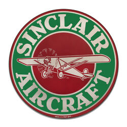 Sinclair Avaiation Sinclair Motor Oil Vintage Style Round Mdf Wood Sign