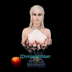 Game Of Thrones Daenerys Targaryen Bust Model Emilia Clarke Resin Painted 18.8and039and039