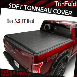 For 2007-2019 Toyota Tundra 5.5ft Bed Lock Tri-fold Assemble Soft Tonneau Cover