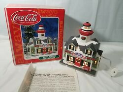 Coca-cola Town Square Collection Light House Gift Shop Christmas Village House