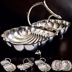 """Rare Antique Ornate William Hutton And Sons 12.5""""/32cm Silver Plated Serving Dish"""