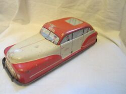 Vintage Wolverine Red White Metal Taxi Car Automobile Vehicle Toy Pittsburgh Pa