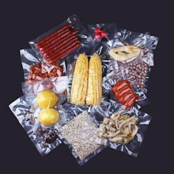 100pcs Clear Vacuum Sealer Storage Bags Pack Commercial Package Pouch Food Saver