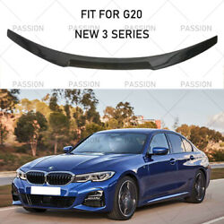 For 2019 2020 Bmw 3 Series G20 330i M340i M4 Style Rear Spoiler Wing Gloss Black