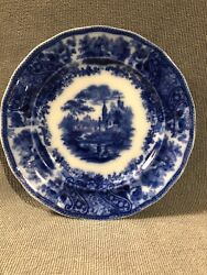 Stunning Burgess And Leigh - 7.75 Flow Blue Plate Middleport Pottery C1889-1919