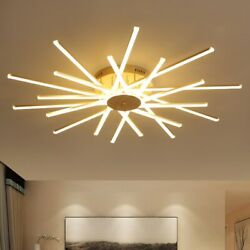 Bedroom Dimmable Light Living Dining Chanelier LED Ceiling Lamp Remote Control