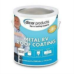 Dicor Metal Roof Coating 2 Gallons Coating And 2 Quarts Cleaner - Metal Roof