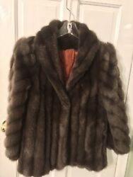 WOMEN'S FAUX MINK FUR  JACKET   FULLY LINED  FITS MOST LARGE OR MEDIUM NO TAG