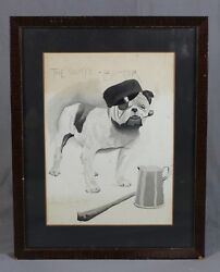 Circle Cecil Aldin Breweriana Advertising Watercolour Bull Dog The Wife Beater