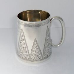 A Small Solid Silver Victorian Churn-shaped Christening Canbirmingham 1897