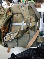 Alice Pack Metal Military Issued Lower Back Pad Waist Shoulder Straps Lot Of 2
