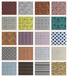 Ambesonne Ethnic Details Fabric By The Yard Decorative Upholstery Home Accents