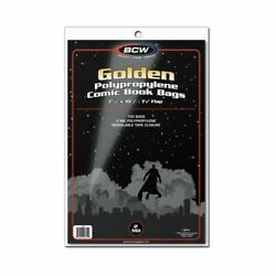 100 Bcw Clear Poly Bags For Golden Age Comic Books 2 Mil Acid Free Safe Storage