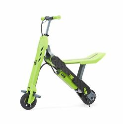 Viro Rides Transforming Electric Scooter Bike Height Adjustable Green 646089 New