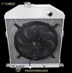 Champion 2 Row Aluminum Radiator And 16 Fan 42 43 44 45 46 47 48 Ford Coupe Cars