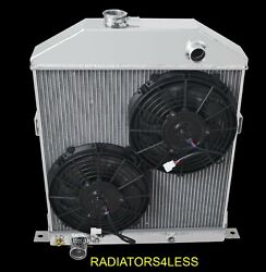 Champion 4 Row Aluminum Radiator 10 Fans 42 43 44 45 46 47 48 Ford Coupe Cars