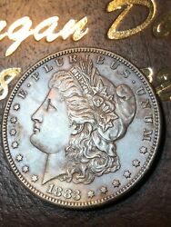 1883-s Morgan Silver Dollar Uncirculated Amazing Details Very Scarce