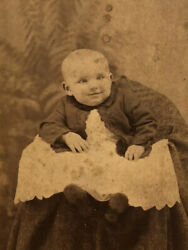 Cabinet Photo Of Smiling Baby In White Lace Gown By Appel Of Hamburg Pa