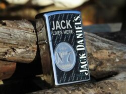 Zippo Lighter - Jack Daniels Old No. 7 - Jack Lives Here - Tennessee Whiskey -