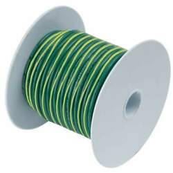 Ancor Green With Yellow Stripe 500' 10 Awg Wire 109350