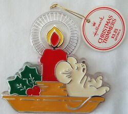 Hallmark 1981 Little Trimmers Ornament Mouse on Candle – New with Tag