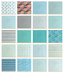Ambesonne Aqua Fabric By The Yard Decorative Upholstery Home Accents