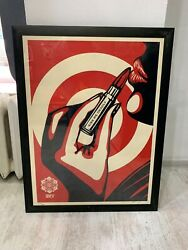 Rare 2007 Shepard Fairey Obey Kiss Me Deadly Poster Screen Print Poster 220/300