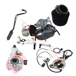 125cc Engine Motor Manual W/ Carb, Wires, Exhaust Fr Pit Bike Apollo Ssr110 Ct90