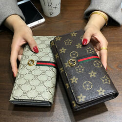 Women Lady Clutch Leather Wallet Long Card Holder Phone Bag Case Purse Handbag $10.99