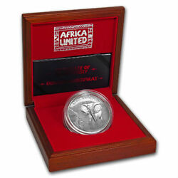 2018 Africa 3 Oz Silver 6 X 1500 Francs Africa United Elephant Silver Coin