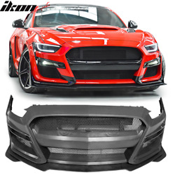 Fits 15-17 Ford Mustang Gt500 Style Front Bumper Cover Replacement - Pp