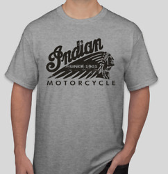 BRAND NEW WITH TAGS INDIAN MOTORCYCLES T-SHIRT WORN LOGO~ FREE SHIPPING