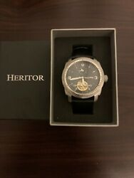 Brand New In Box  Heritor Helmsley Automatic  Dual Time Msrp 1300.00
