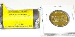 2010 D Native American Sacagawea Dollar From Uncirculated Us Mint Roll Coin