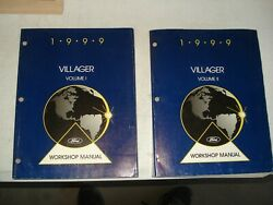 1999 MERCURY VILLAGER SERVICE MANUAL SET ORIGINAL SHOP REPAIR BOOKS OEM