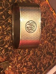Antique Solid Silver Napkin Ring Hallmarked Birmingham Crisford And Norris