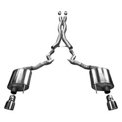 Corsa 2015 Ford Mustang Gt 5.0 3in Cat Back Exhaust Polish Dual Tips Sport