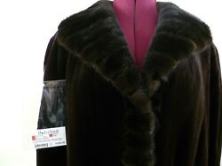 New Brown Mink Fur Coat Fully Length Dyed Sheared Size Plus 1x Finland 10,995