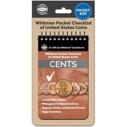Whitman Pocket Checklist Of Us Cents Coins Mintages/issues/proofs/varieties New