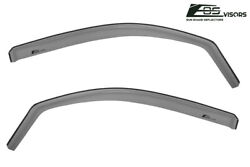 Fit 05-15 Tacoma Extended Cab In Channel Front Door Side Window Visor Deflector