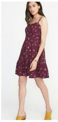Old Navy Womens Maroon Cami Shift Dress Nwts Sold Out S