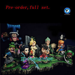 One Piece The Straw Hat Pirates Full Set Resin Figure Yy Studio In Stock Anime