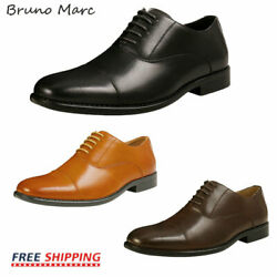 Bruno Marc Mens Leather Dress Shoes Formal Classic Lace up Business Oxford Shoes